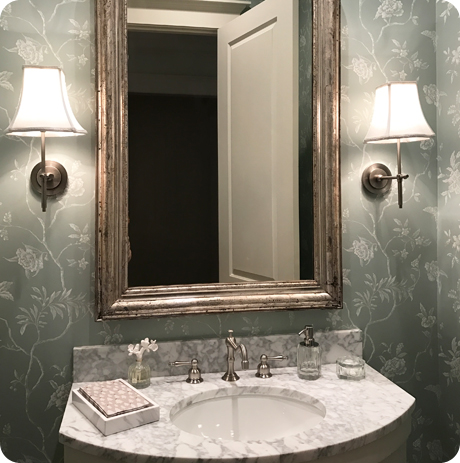 Powder Room Wallpaper Houston